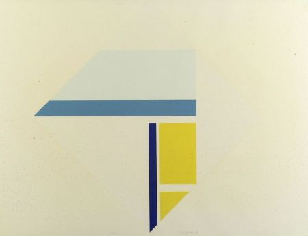 Ilya Bolotowsky (Russian/American, 1907-1981)  Composition in White, Blue and Yellow