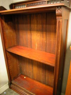 Late Victorian Walnut Open Bookcase.