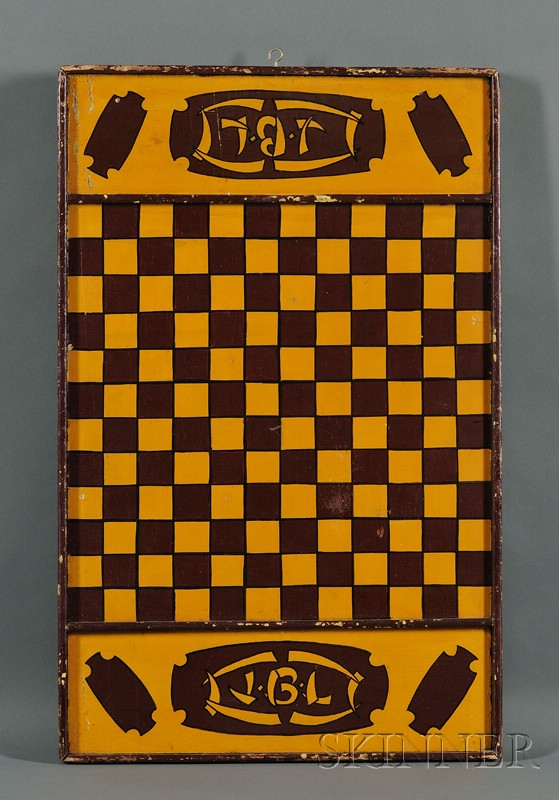 Paint-Decorated Double-sided Game Board