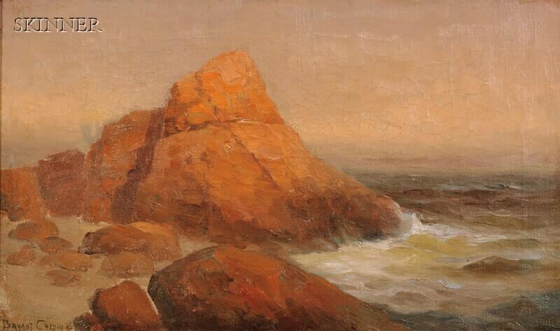 Bryant Chapin (American, 1859-1927)      Rocky Coastal View