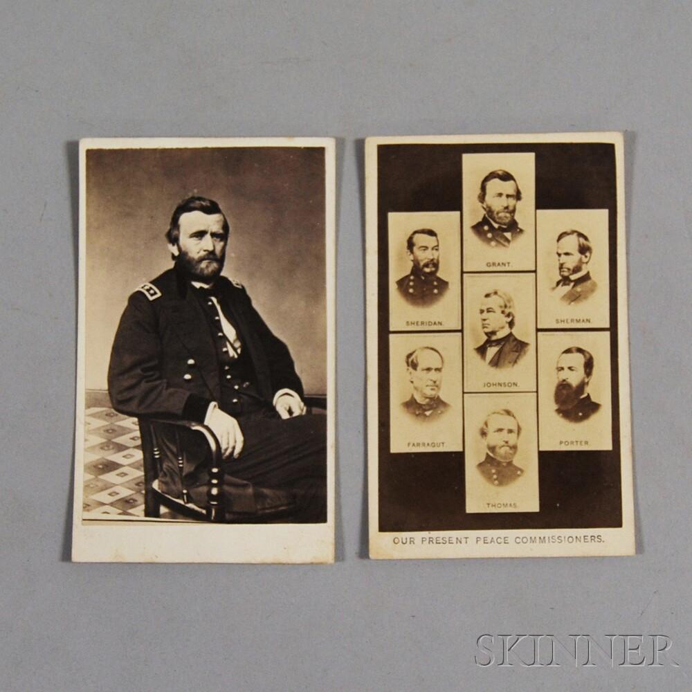 Two Civil War-era Carte-de-visites