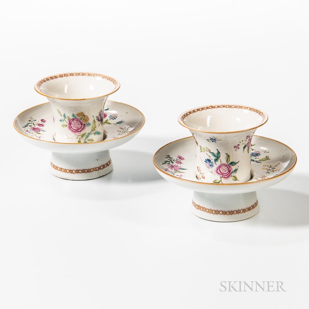 Pair of Export Porcelain Trembleuse