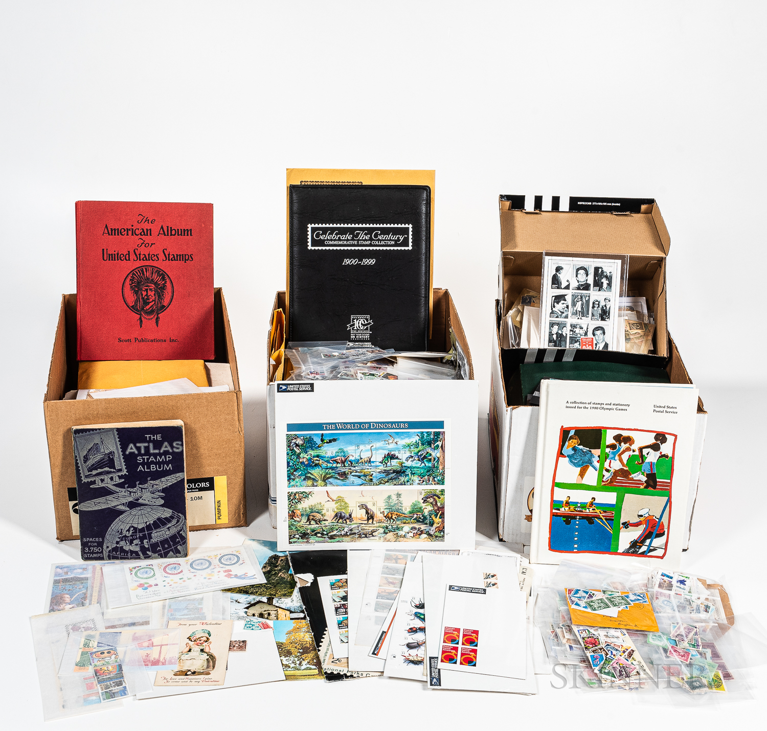 Large Collection of International Stamps and Philatelic Materials