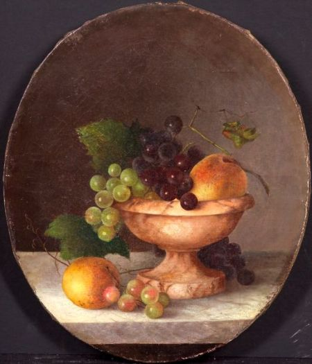 Manner of Severin Roesen (German/American, 1815-1872)    Still Life with Fruit in a Marble Compote