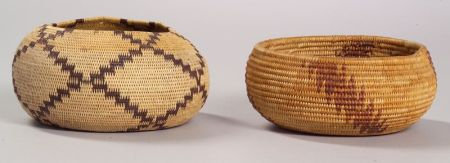 Two California Coiled  Basketry Bowls