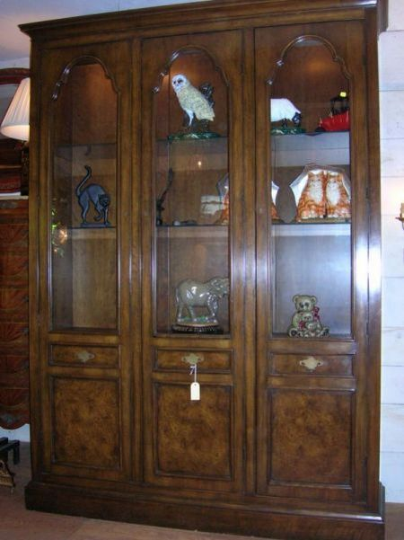 Baker Walnut Three-Door Number 1670 Dining Cabinet