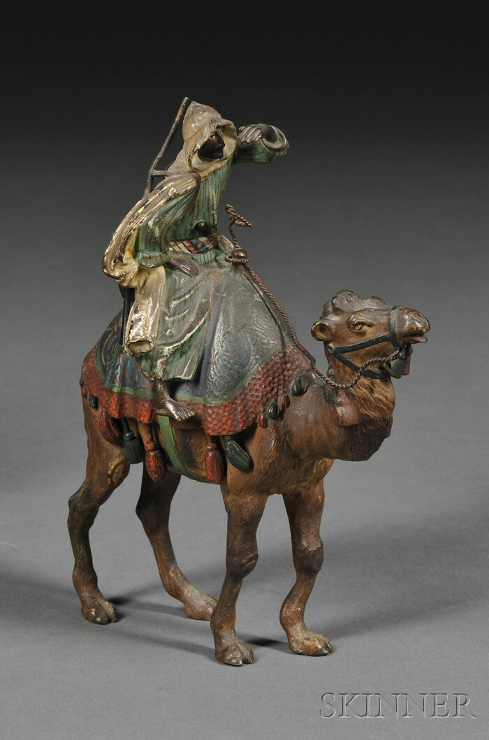 Vienna Cold-painted Bronze Bedouin on Camelback