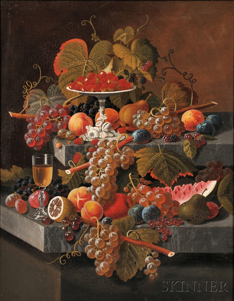 School of Severin Roesen (American, 1815-1872)      Fruit Composition with a Tazza of Strawberries
