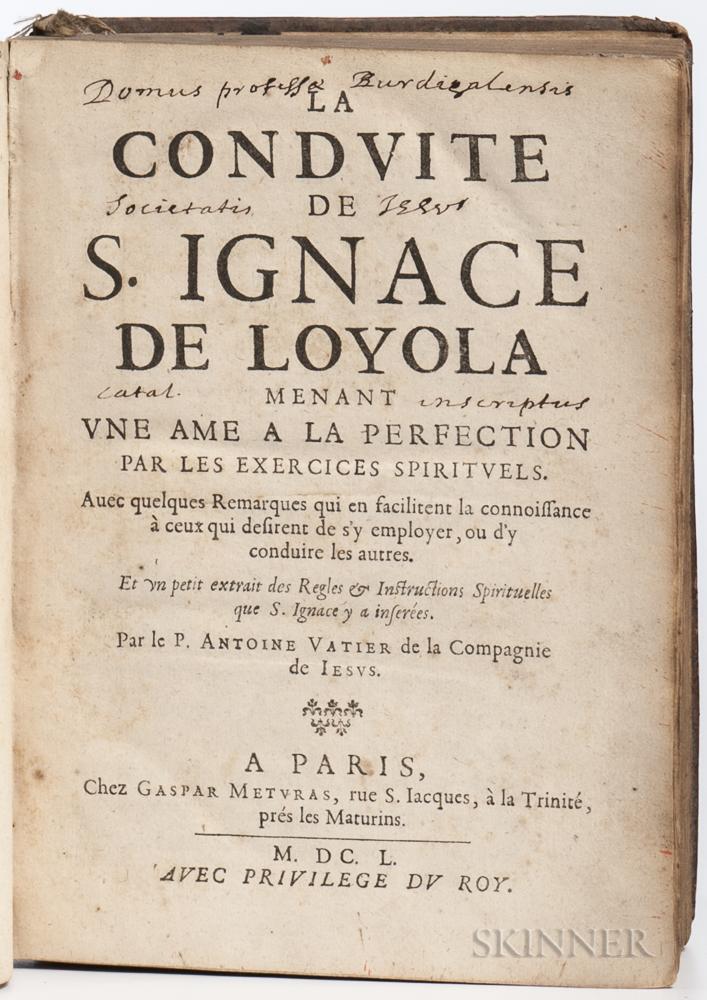 Vatier, Antoine (1591-1659) La Conduite de S. Ignace de Loyola.
