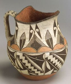 Southwest Polychrome Pottery Pitcher