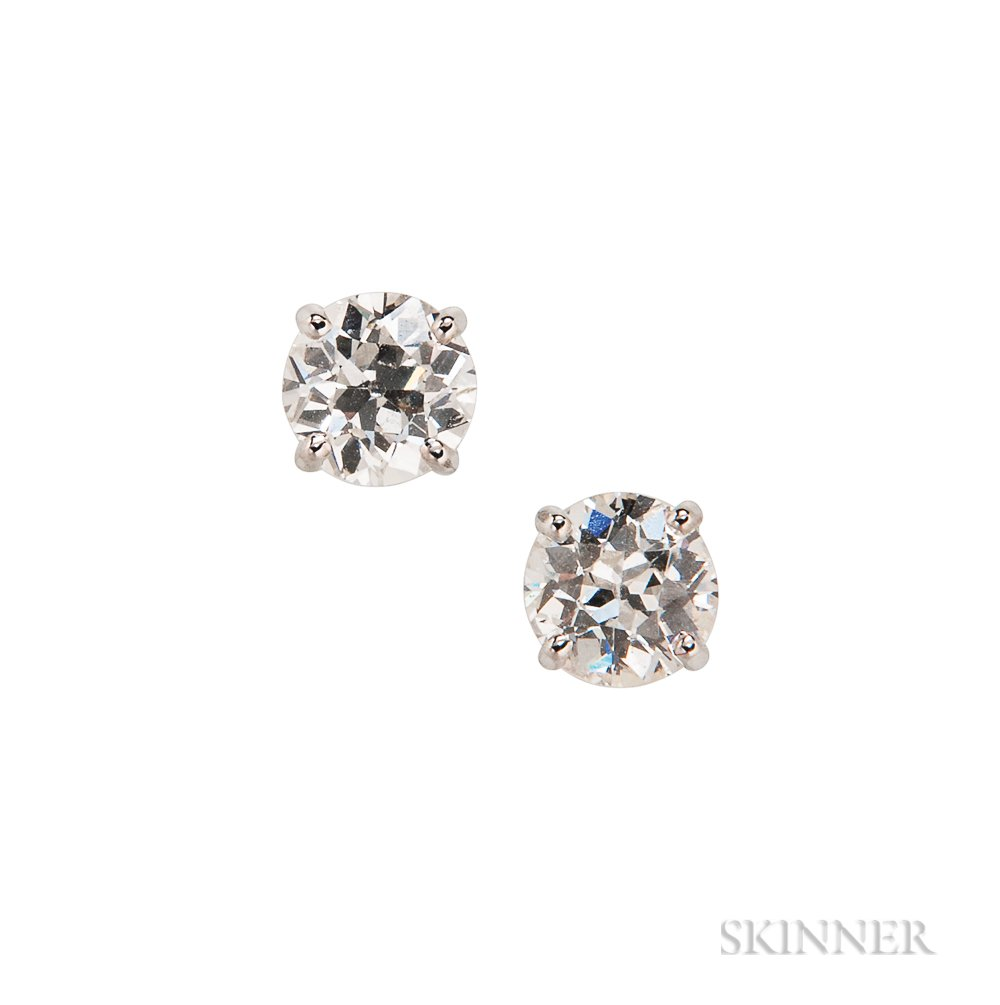 14kt White Gold and Diamond Earstuds