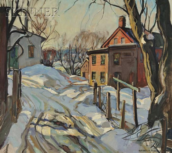 William Lester Stevens (American, 1888-1969)      Snowy Lane
