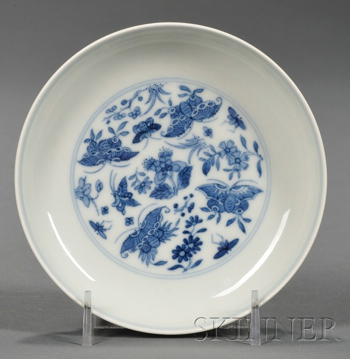 Blue and White Saucer Dish