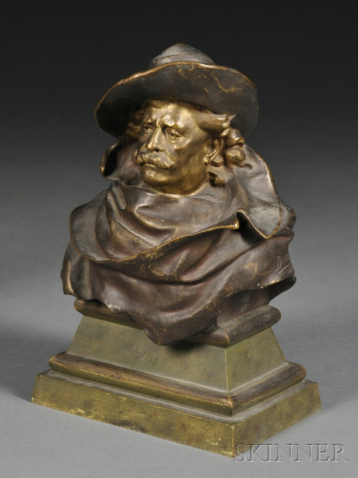 Bronze Bust of a Cavalier