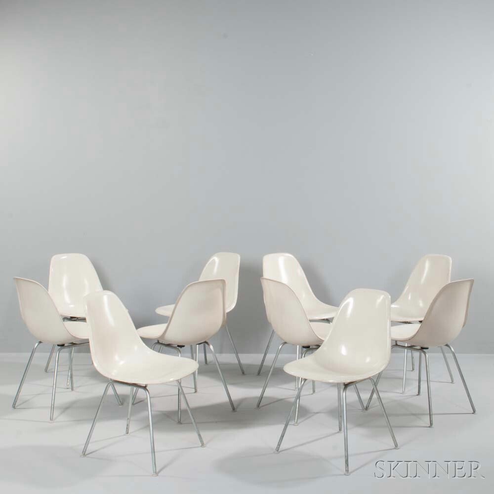 Ten Charles and Ray Eames Shell Dining Chairs