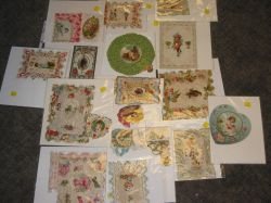 Twenty-two Assorted Late Victorian Lithographed and Die-cut Valentines.