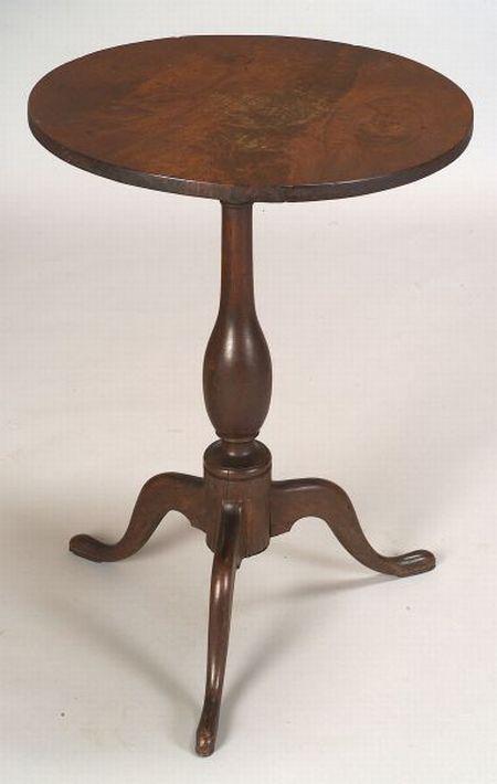 Queen Anne Walnut Tilt-top Candlestand