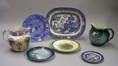 Seven Pieces of Assorted Buffalo Pottery Transfer Decorated Tableware
