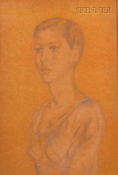 Tsugoharu Foujita  (Japanese/French, 1886-1968)      Portrait of a Woman