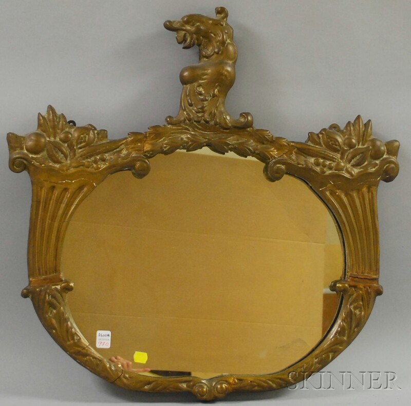 Neoclassical-style Gilt-gesso Mirror