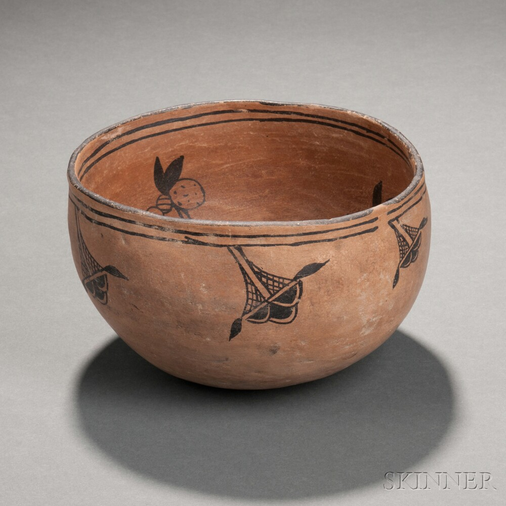 Cochiti Painted Pottery Bowl