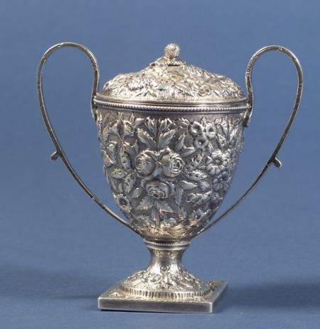 S. Kirk & Son Sterling Repousse Covered Sugar Urn