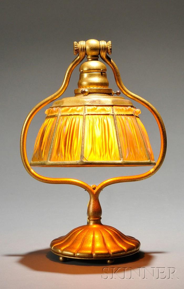 Tiffany Studios Linenfold Table Lamp