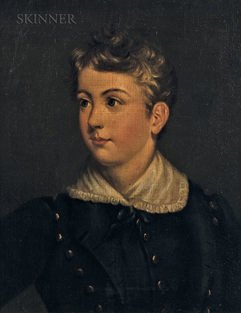 Continental School, 19th Century      Portrait Bust of a Young Boy