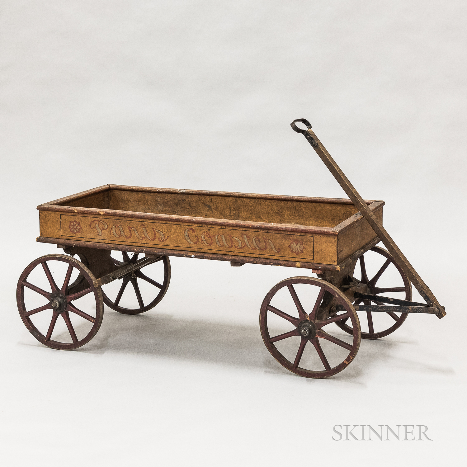 """Painted and Stenciled """"Paris Coaster"""" Wagon"""