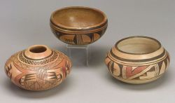 Three Southwest Painted Pottery Bowls