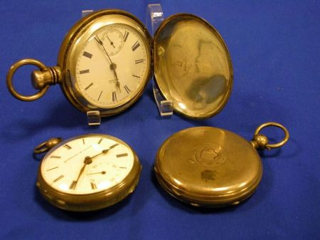 American Watch Company Silver Cased Pocket Watch, Quartier Au Locle and a Swiss Silver Cased Pocket Watches.
