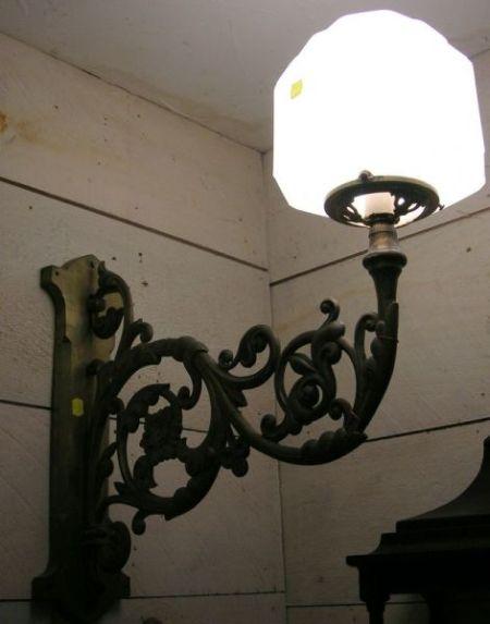 Pair of Gilt Brass Exterior Wall Lamps