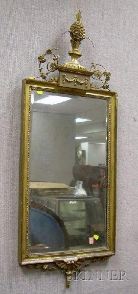 Georgian-style Gilt Decorated Mirror.
