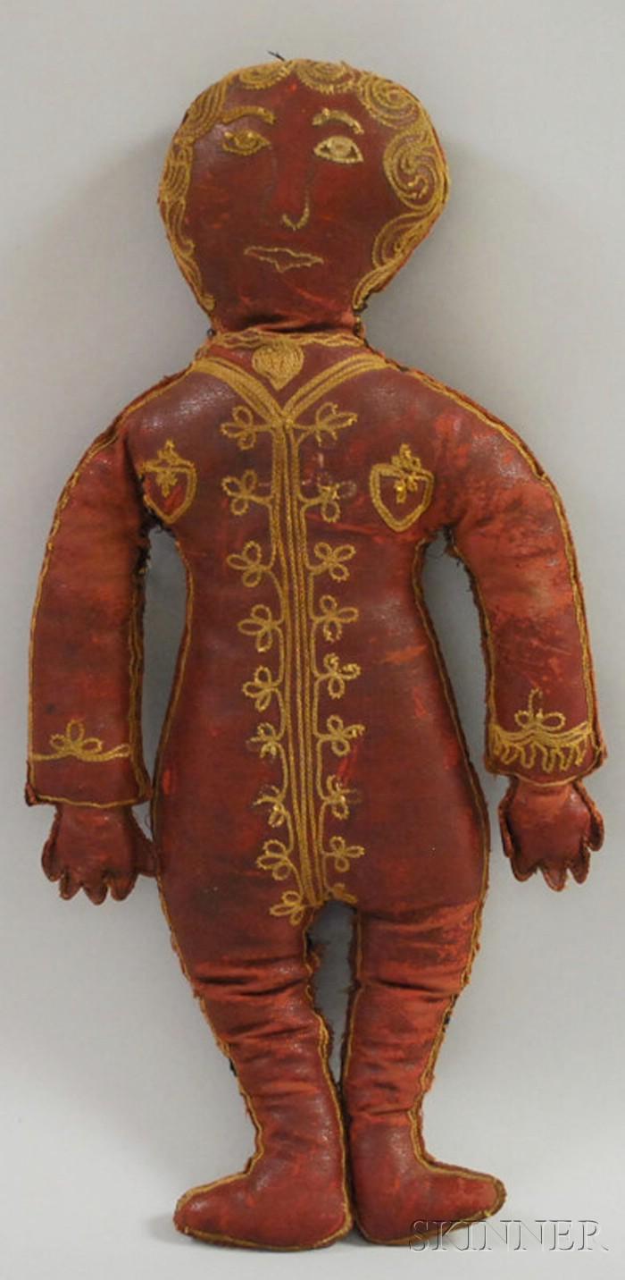 Embroidered Naugahyde Doll