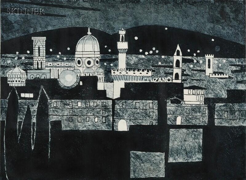 Julian Trevelyan (British, 1910-1988)      Florence At Night