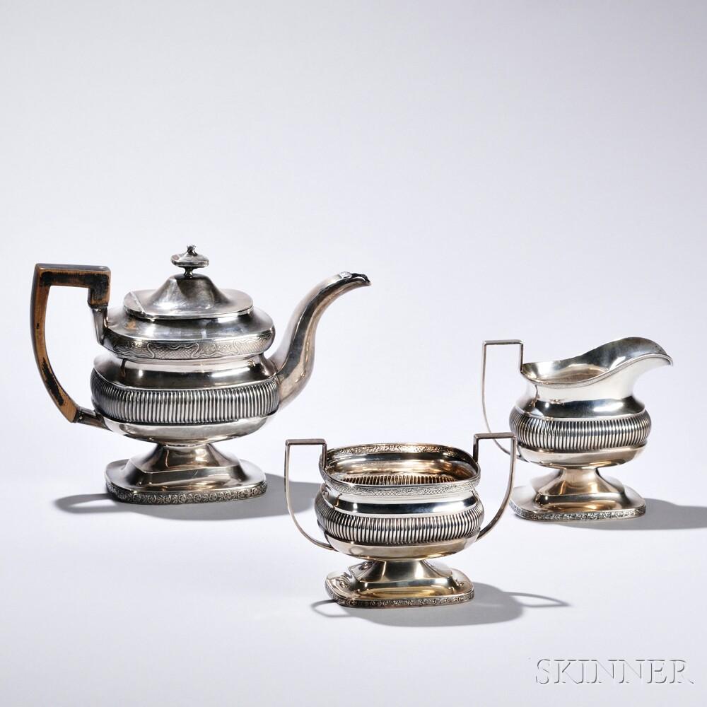 Assembled Three-piece American Silver Tea Service