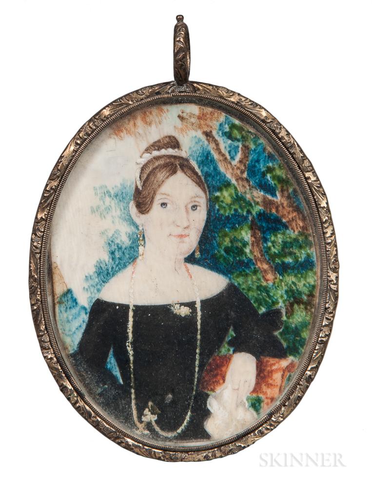 John Bradley (New York, 19th Century)      Portrait of a Lady
