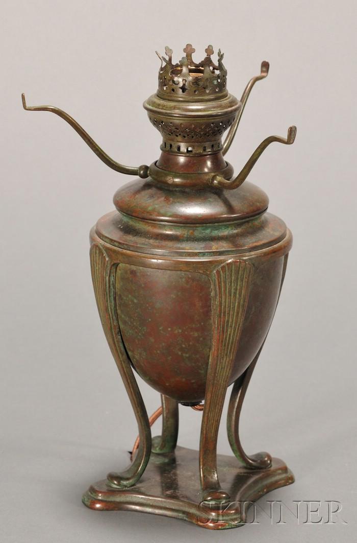 """Greek Model"" Lamp Base Attributed to Tiffany Studios"
