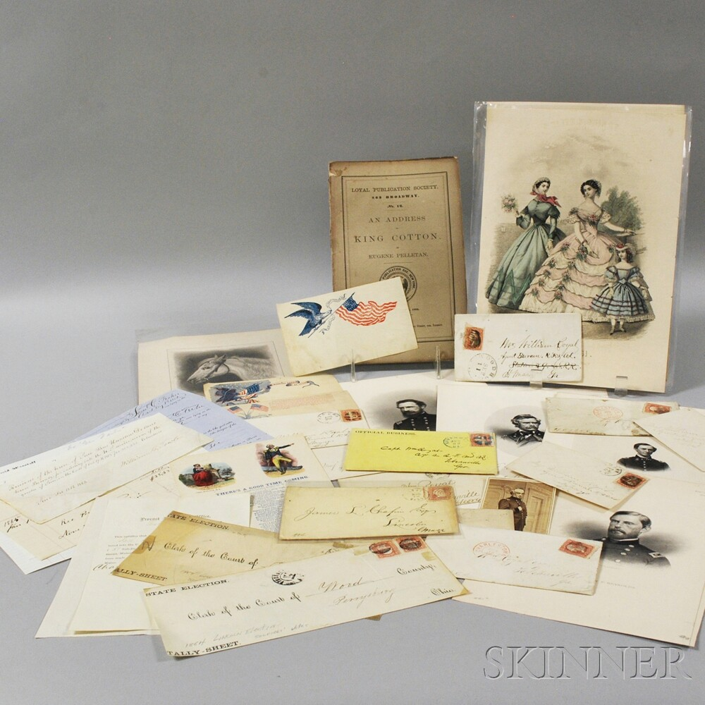 Small Collection of Civil War and Military Ephemera