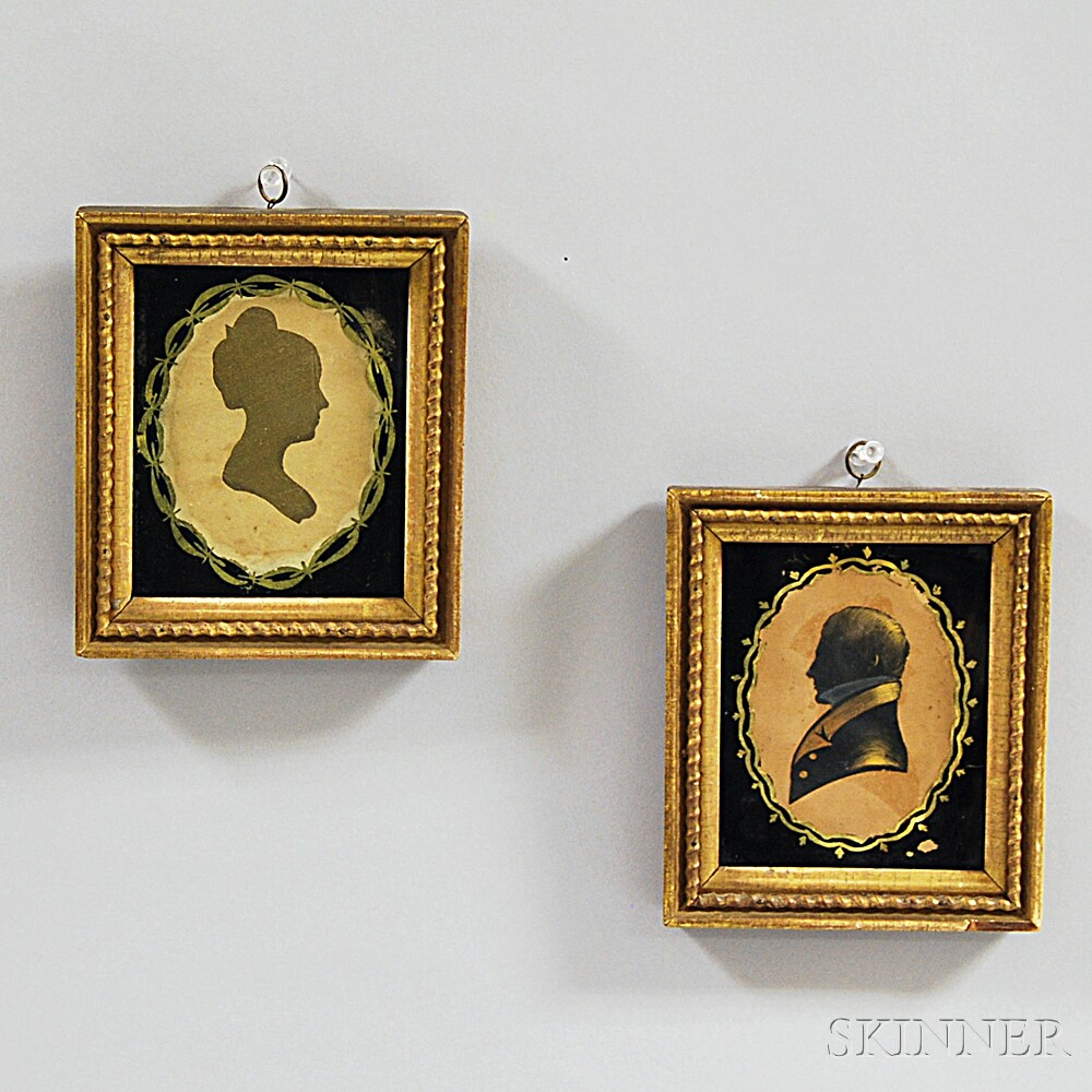 Pair of Framed Silhouettes