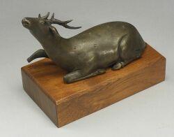 Bronze Study of a Reclining Deer