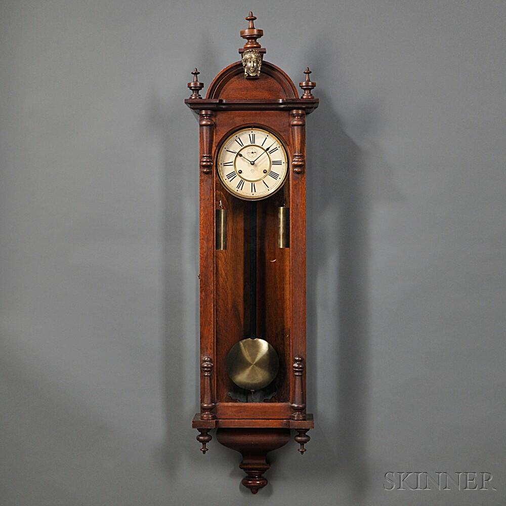 """Ansonia Walnut """"Capital"""" Wall Clock"""