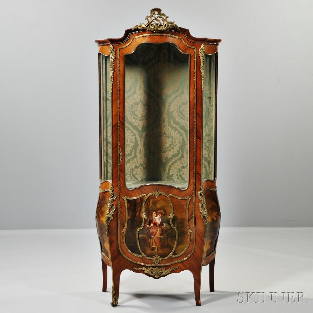 Louis XVI-style Vernis Martin Display Cabinet