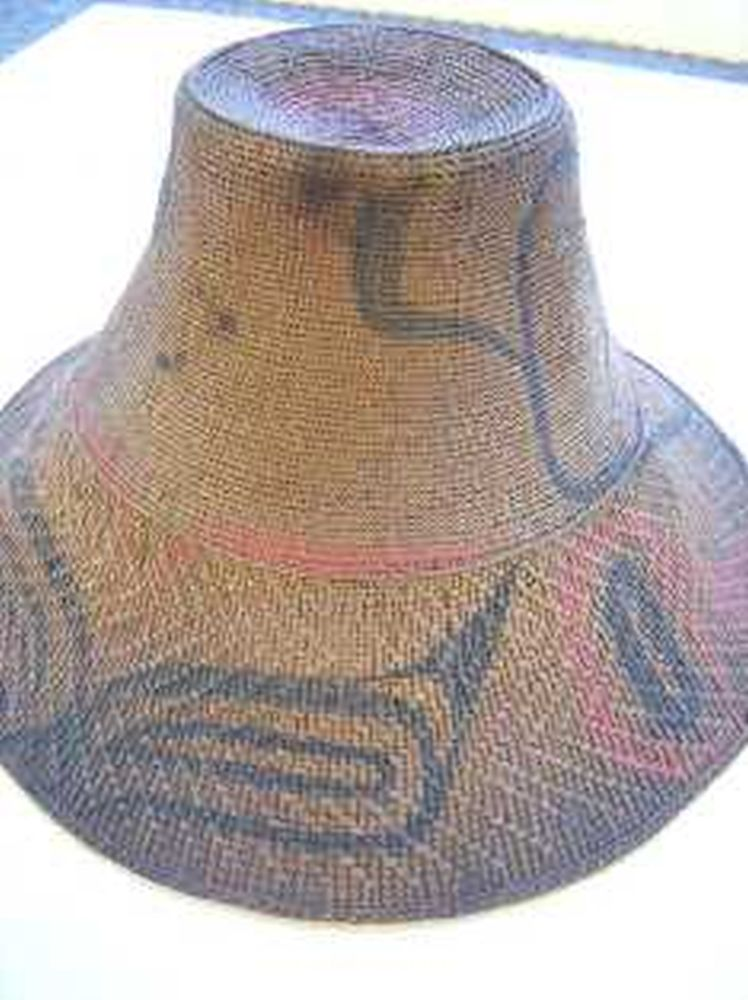 Rare Haida Child's Spruce Root Basketry Hat
