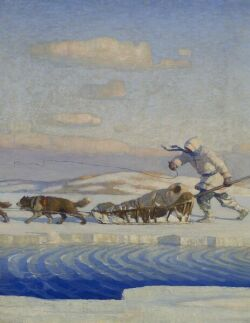 Newell Convers Wyeth (American, 1882-1945)  One January Afternoon