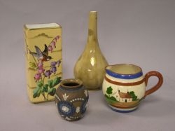 Four Pieces of Victorian Art Pottery