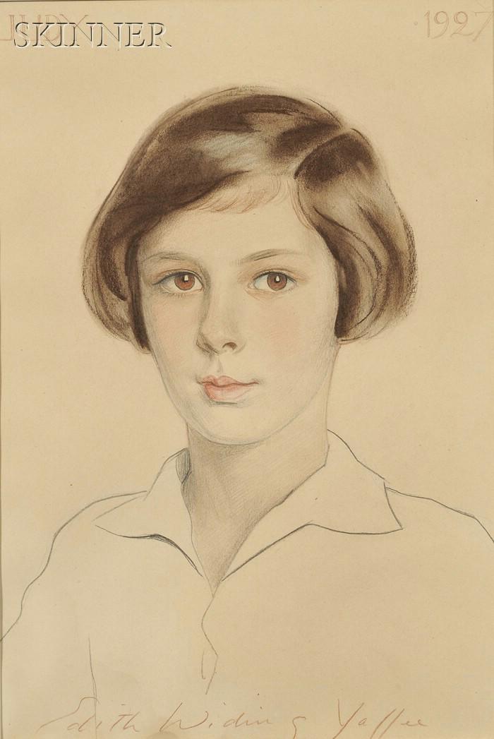 Edith Widing Yaffee (American, 1895-1961)      Lot of Two Female Portraits