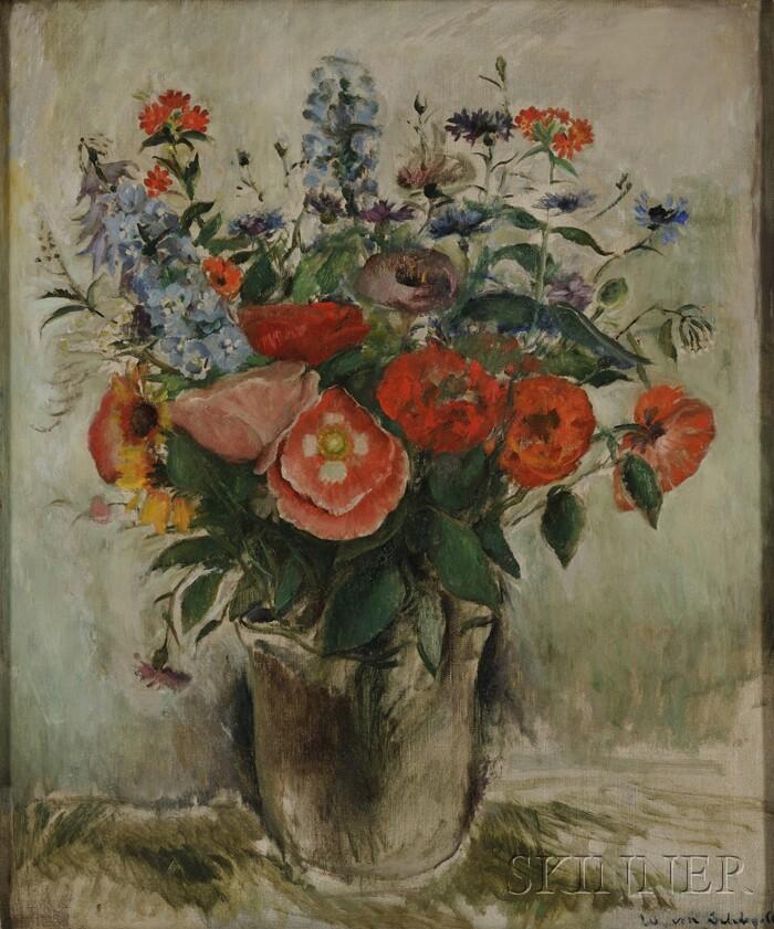 Gustav William Von Schlegell (American, 1884-1950)      Floral Still Life
