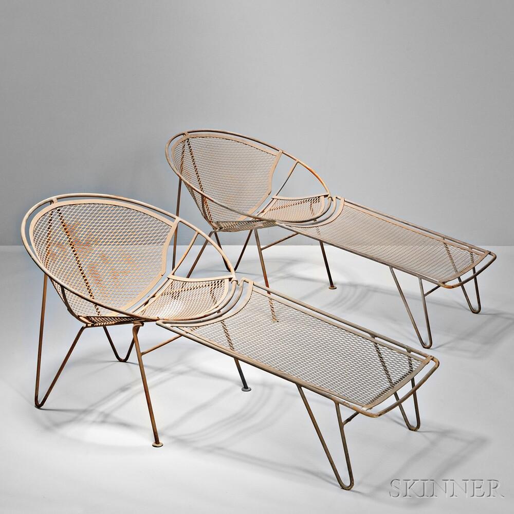 Eight Pieces Of John Salterini Outdoor Furniture