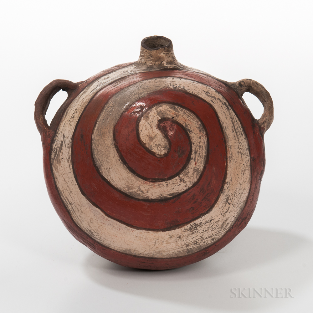 Southwest Painted Pottery Canteen